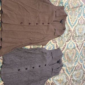 Tops - Bundle of two business casual brown and grey tops